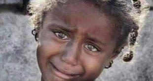 دموع طفله تحكي معاناة وطن
