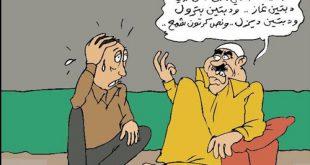 #كاريكاتير ساخر يعبر عن أزمة الغاز التي تعاني منها اليمن جراء الحرب !