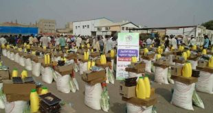 ريمة:المحافظ يدشن المرحلة السابعة من توزيع السلال الغذائية