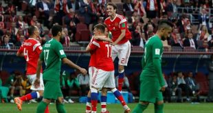 روسيا تمطر شباك السعودية بالأهداف في افتتاح مونديال 2018