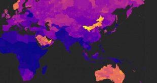 خريطة تكشف المناطق الأكثر تلوثا حول العالم!