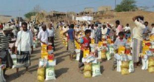 الحديدة :توزيع مواد إيوائية على نازحي قرية منظر