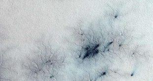 """صورة مخيفة لـ""""عناكب المريخ"""" والعلماء يكشفون ما هي"""