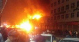 صنعاء: شاهد: حريق في المستشفى اليمني الألماني