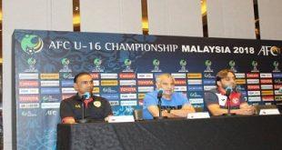 مؤتمر صحفي لمدربي منتخبات المجموعة الثانية لمنافسات بطولة آسيا بماليزيا