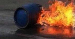 إب: شاهد.. مقتل عامل وإصابة آخر في انفجار اسطوانة غاز