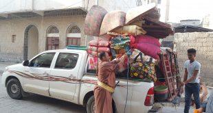 مارب: توزيع 900 سلة غذائية على نازحين صنعاء