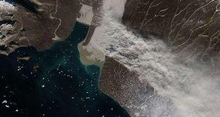 """الأقمار الاصطناعية تلتقط لأول مرة """"عواصف الطمي"""" الكبيرة في غرينلاند"""