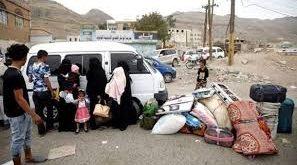 «هيكل» سيارة يأوي عائلة نازحة من الحديدة إلى عدن
