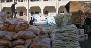 صنعاء: تدشين توزيع 500 سلة غذائية للأسر الفقيرة والنازحة بأمانة العاصمة
