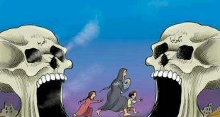 كاريكاتير .. اليمن بين جحيم الحرب وجحيم وباء الكوليرا ..