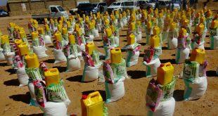 تعز:منظمة شباب شمير التكافلية توزيع 550 سلة غذائية