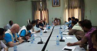 مناقشة سير المشاريع والبرامج التي تنفذها منظمة اليونسيف بالحديدة