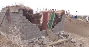 قحيم والبرعي يتفقدان أضرار السيول في مديريتي بُرَع وباجل