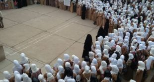 الحديدة : وقفة إحتجاجية لطالبات مدرسة خولة بنت الأزور