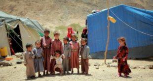 وفاة طفلين وإصابة اخرين إثر حريق بمخيم للنازحين