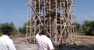 مدير مديرية بيت الفقيه يتفقد مشاريع بناء خزانات مياه الشرب بقريتي القفل الأعلى والأسفل