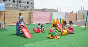 إلهام عبده فتاه جامعية تفتتح نادي مرح لألعاب وتعليم الأطفال بالحديدة