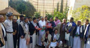 الجالية اليمنية بمملكة بريطانيا تكرم رئيس نادي الأجيال بمديرية مقبنة بدرع المغتربين لعام 2019
