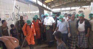 الحديدة:قحيم  يدشن حملة رقابية توعوية وتعقيم في أسواق اللحوم