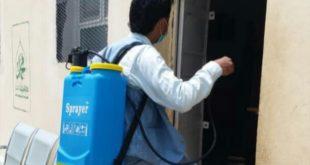 مكتب صحة الدريهمي يدشن حملة الرش والتعقيم لسوق اللاوية ومبنى إدارة الأمن