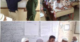 مدير عام الدريهمي يدشن الورشة التدريبية للملاحظين والملاحظات حول تنفيذ إمتحانات الشهادتين الأساسية والثانوية