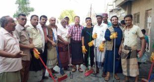 تدشين حملة نظافة واسعة بمشاركة مجتمعية من ابناء حارة الصبالية بمديرية الحوك