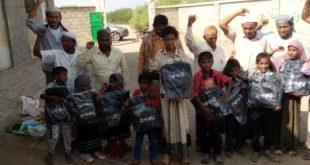 توزيع 200 حقيبة مدرسية للطلاب الأيتام بالدريهمي