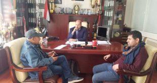 رئيس جمعية الاعلام الرياضي يلتقي برئيس نادي الوحدة جمعان