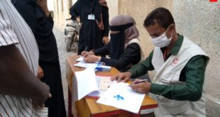 مؤسسة يمن آكت توزع 120 سلة غذائية بالحديدة