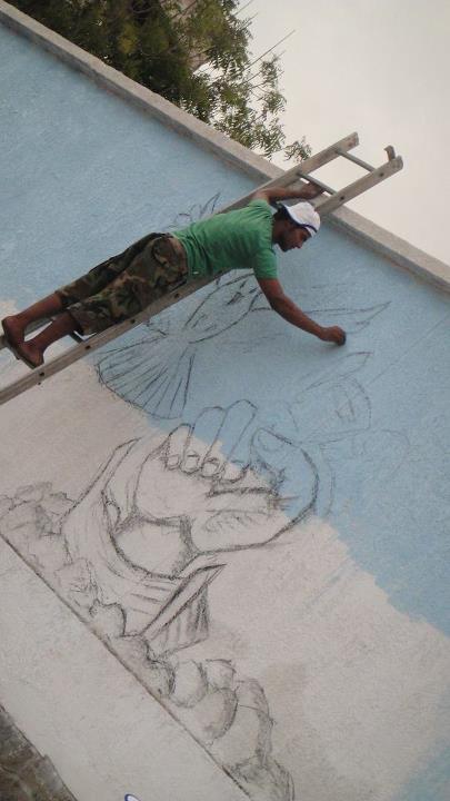 الحديدة فنانون يواصلون تلوين الحياة والشوارع في المحافظة برسومات